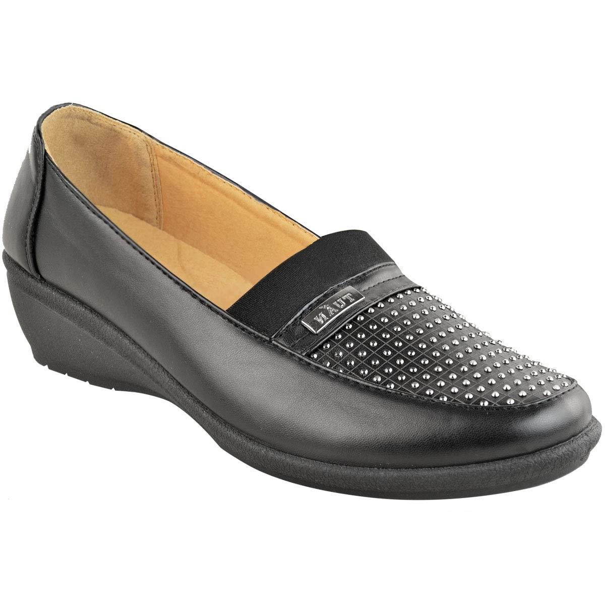 À Compensés Talons Petits Travailmarche Chaussures Enfiler SULMGVpjqz