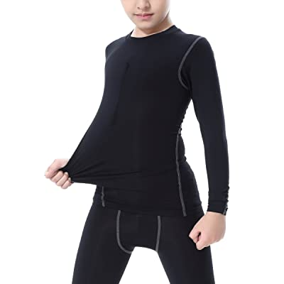 LNJLVI Boys&Girls Compression Shirts Long Sleeve Tops T-Shirts