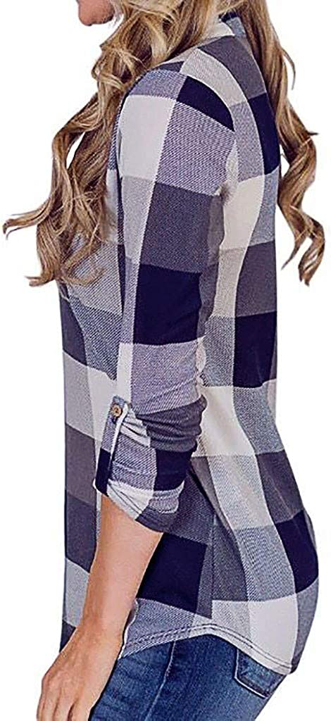Hengshikeji Womens Casual Long Sleeve Basic Solid Crop Top Hoodies Sweatshirts Blouses Shirts Jumpers Tunic Pullover