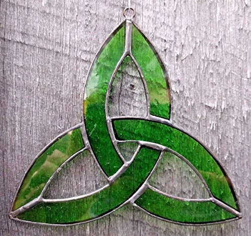 Stained Glass Celtic Trinity Knot Sun Catcher