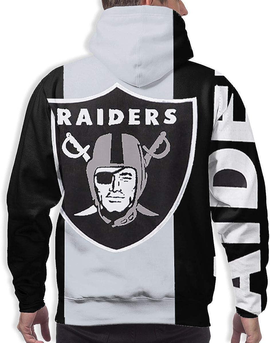 Qinxiaojun Oakland Mens Classic Raiders 3D All Print Hoodie
