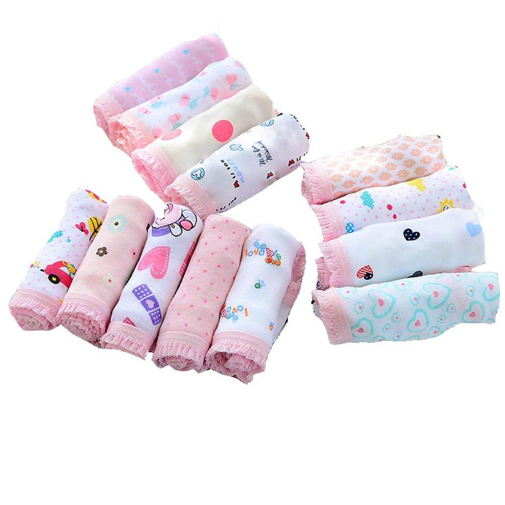 BOBORA Bambine ragazze stampato slip in cotone biancheria intima 7 pezzi/Pack, multicolore BON-IT-1414
