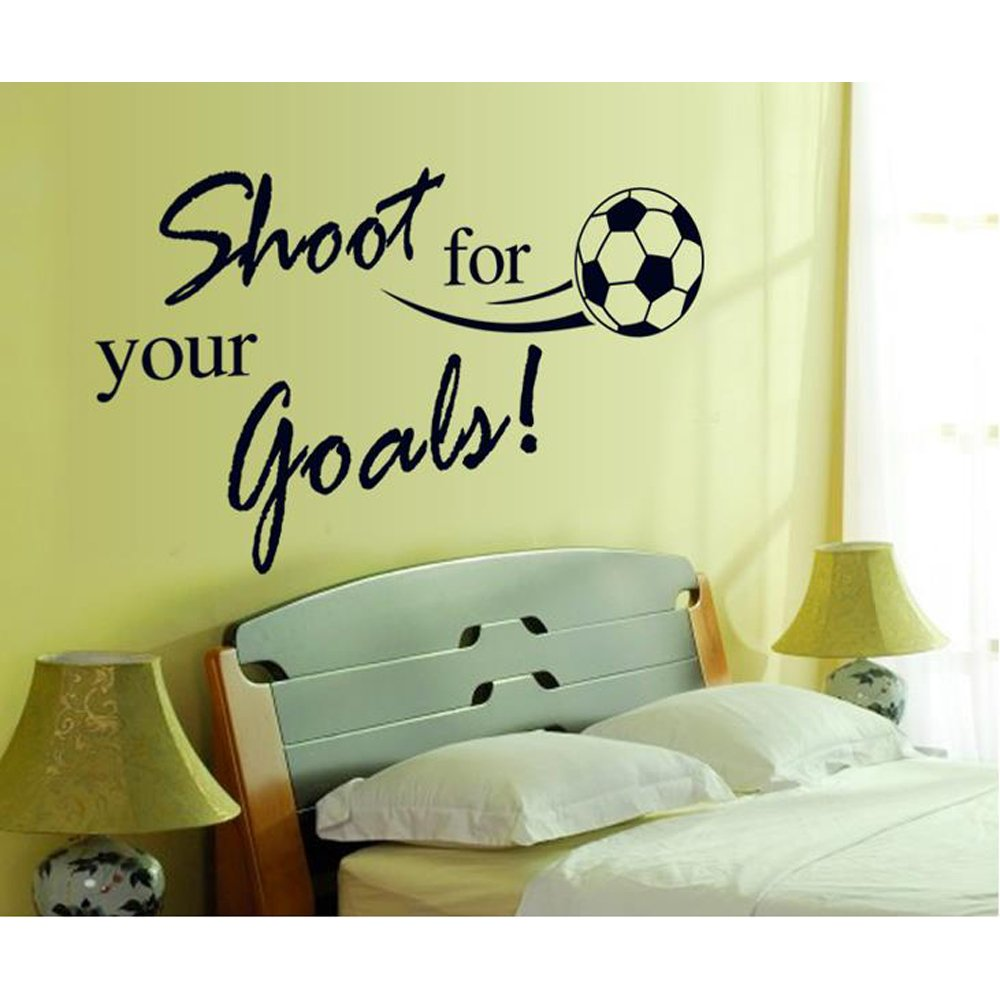 olivia diy inspirational lettering saying sports quotes words olivia diy inspirational lettering saying sports quotes words shoot for your goals soccer wall decals vinyl removable american football slogan home