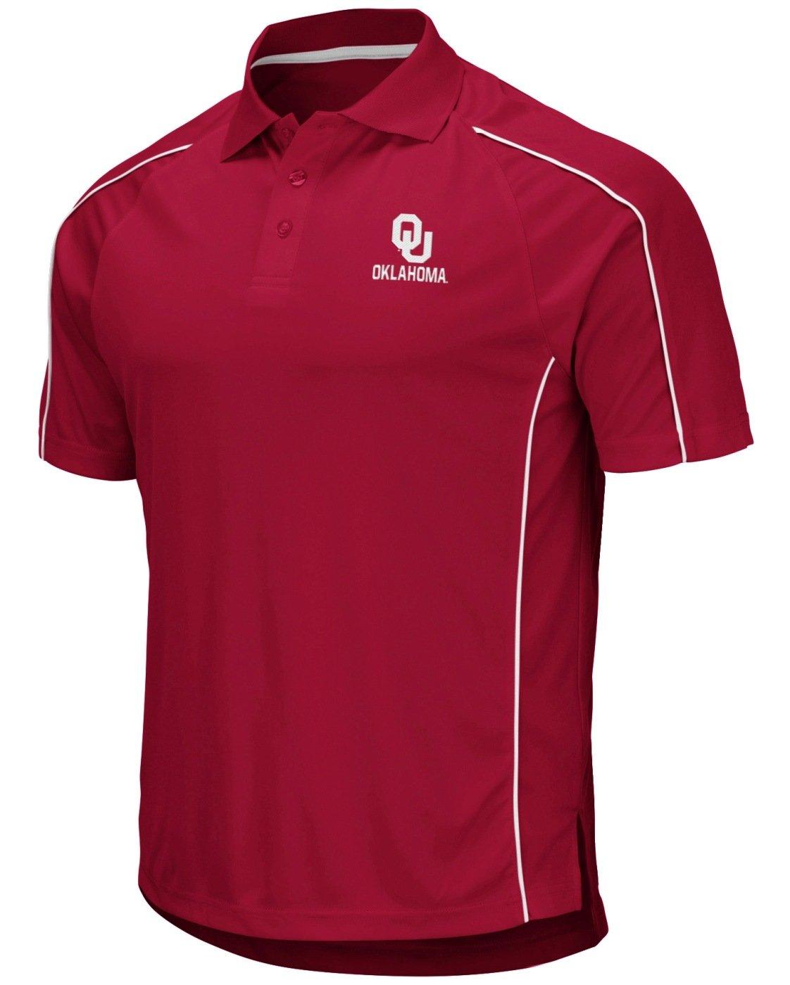 Stadium Athletics Oklahoma Sooners NCAA Bunker Mens Performance Polo Shirt