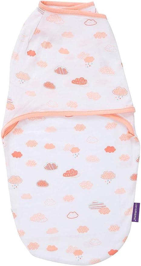 Clevamama Saco de dormir Arrullo para bebés (0-3 meses), algodón - Coral: Amazon.es: Bebé