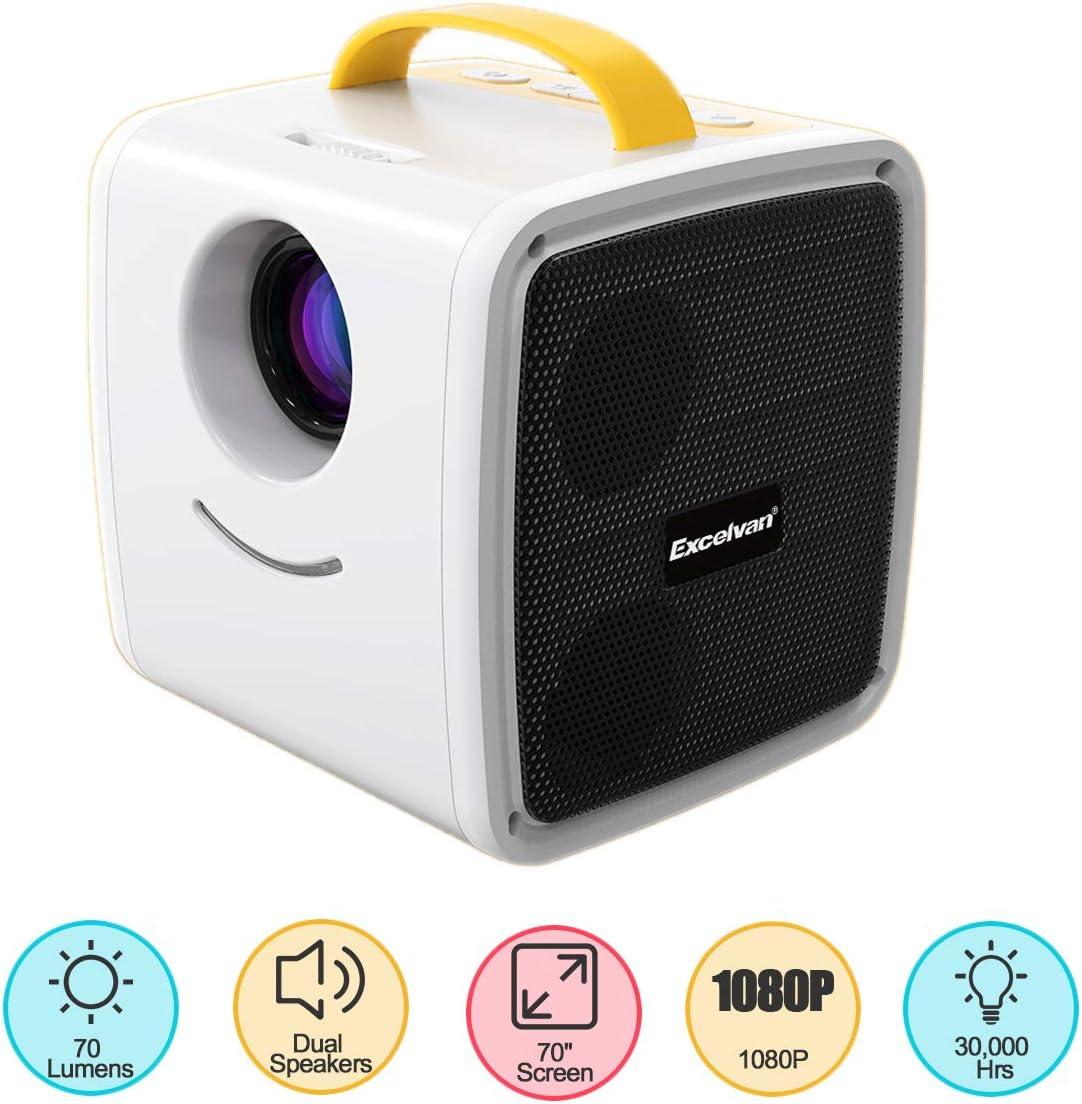 Excelvan 70 Lúmenes Q2 Mini Portátil Proyector Regalo para niños ...