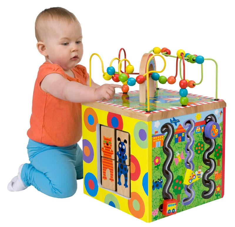 Amazon Com Alex Jr My Busy Town Wooden Activity Cube