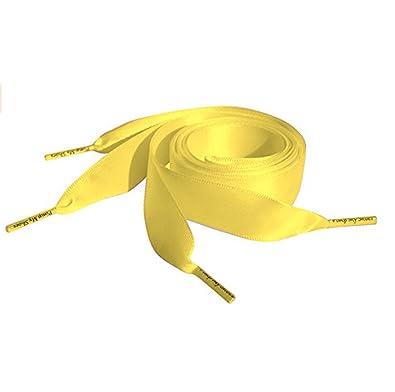 Amazon.com  Lemon Flat Satin Ribbon Shoelaces cf7051366