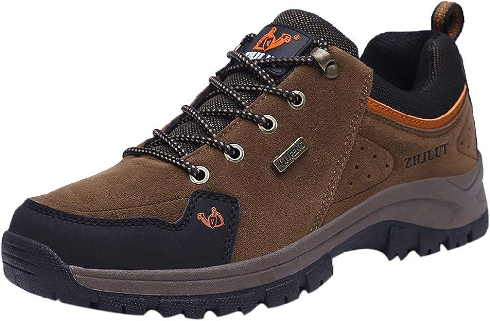Logobeing Hombre Zapatillas de Senderismo Monta Calzado Outlet Seguridad La Zapatilla Trekking al Aire Libre Casuales Botines Hombre (44, Marrón): Amazon.es: Zapatos y complementos
