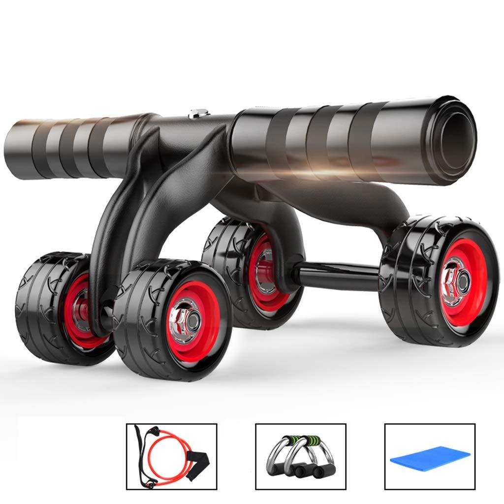DWW Ab Wheel Fitness Equipment - 4 Runden Innovative ergonomische Bauch-Rollen-Gravur-System - Family Gym Box-Workout-Ausrüstung