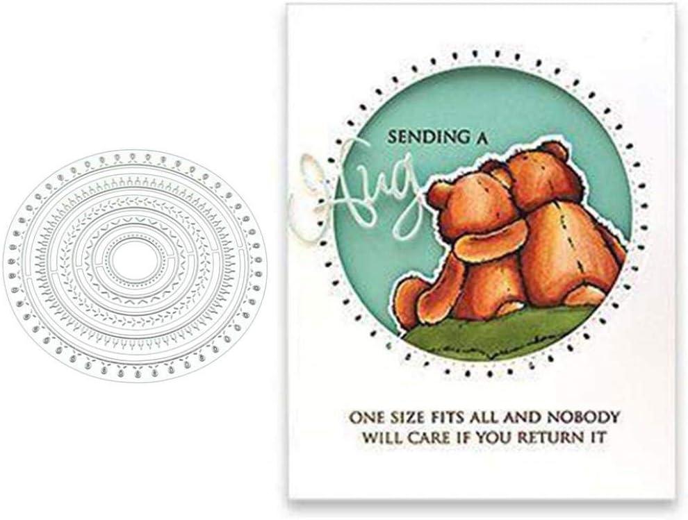 Circle Metal Cutting Dies DIY Scrapbook Emboss Paper Cards Making Craft Stencil Silver YESZ Cutting Die