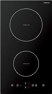 IKF2Z Viesta plaque de cuisson à induction 2 plaques de qualité supérieure avec 9 niveaux de cuisson, protection contre la surchauffe, minuterie et écran tactile