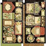 "Safari Adventure Cardstock Die-Cuts 6""X12"" Sheets 2/Pkg-Tags & Pockets"