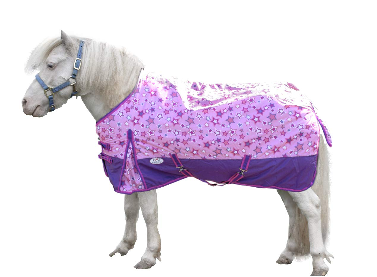 Derby Originals 600D Ripstop Nylon Waterproof Medium Weight Winter Mini Horse and Pony Turnout Blanket - 200g Polyfil