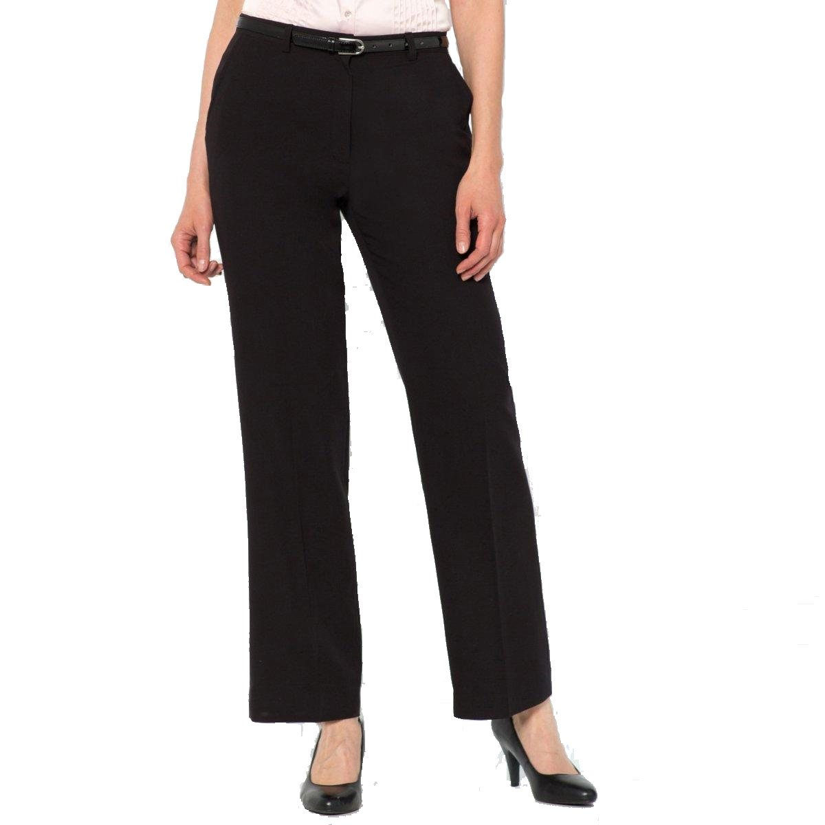 La Redoute Womens Straight Trousers Black Size Us 8 - Fr 38