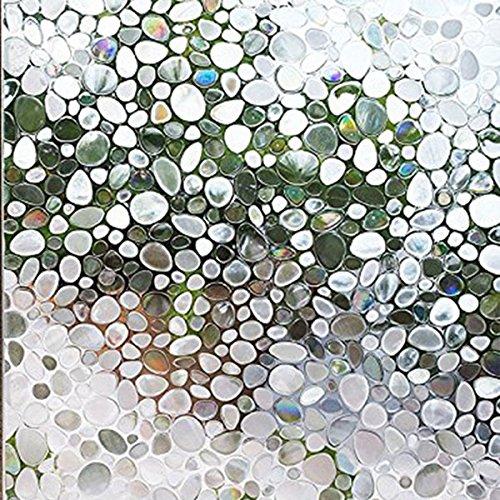 3# Globalflashdeal Pellicola di Vetro 3D elettrostatico Solare Anti Calore e Pellicola UV Window Blinding Film statico Vetro Opaco Decalcomanie Vetro per Bagno Camera da Letto Cucina 45x200cm
