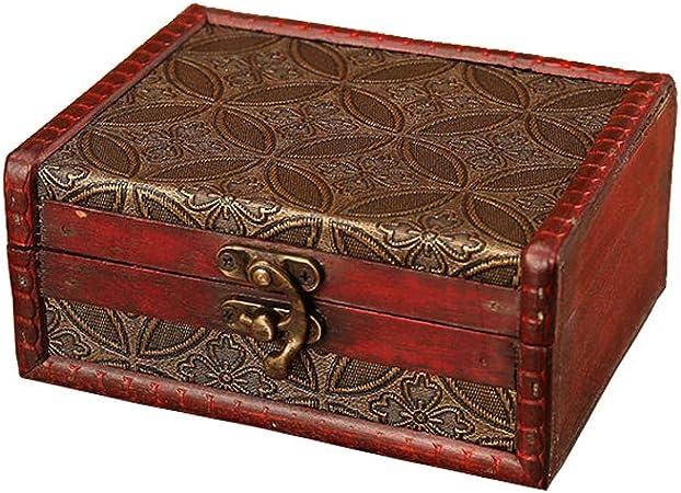 BAOZOON - Caja de Tesoros Decorativa para el hogar, Caja de Tesoro de Madera compuesta para Caja de Regalo, decoración del hogar (5.6 x 4.5 x 2.6 Pulgadas): Amazon.es: Hogar