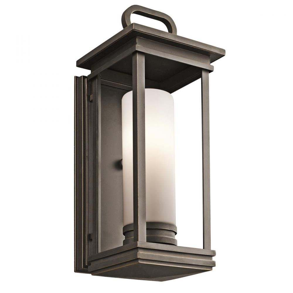 Kichler 49475RZ, South Hope Cast Aluminum Outdoor Wall Sconce Lighting, 60 Watts, Olde Bronze