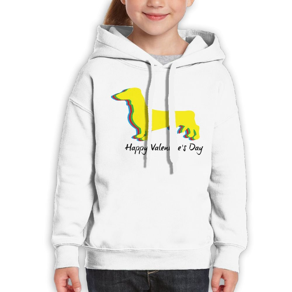 Happy Valentine's Day Dachshund Teenage Girls Classic Guys Graphic Hoodies Urban