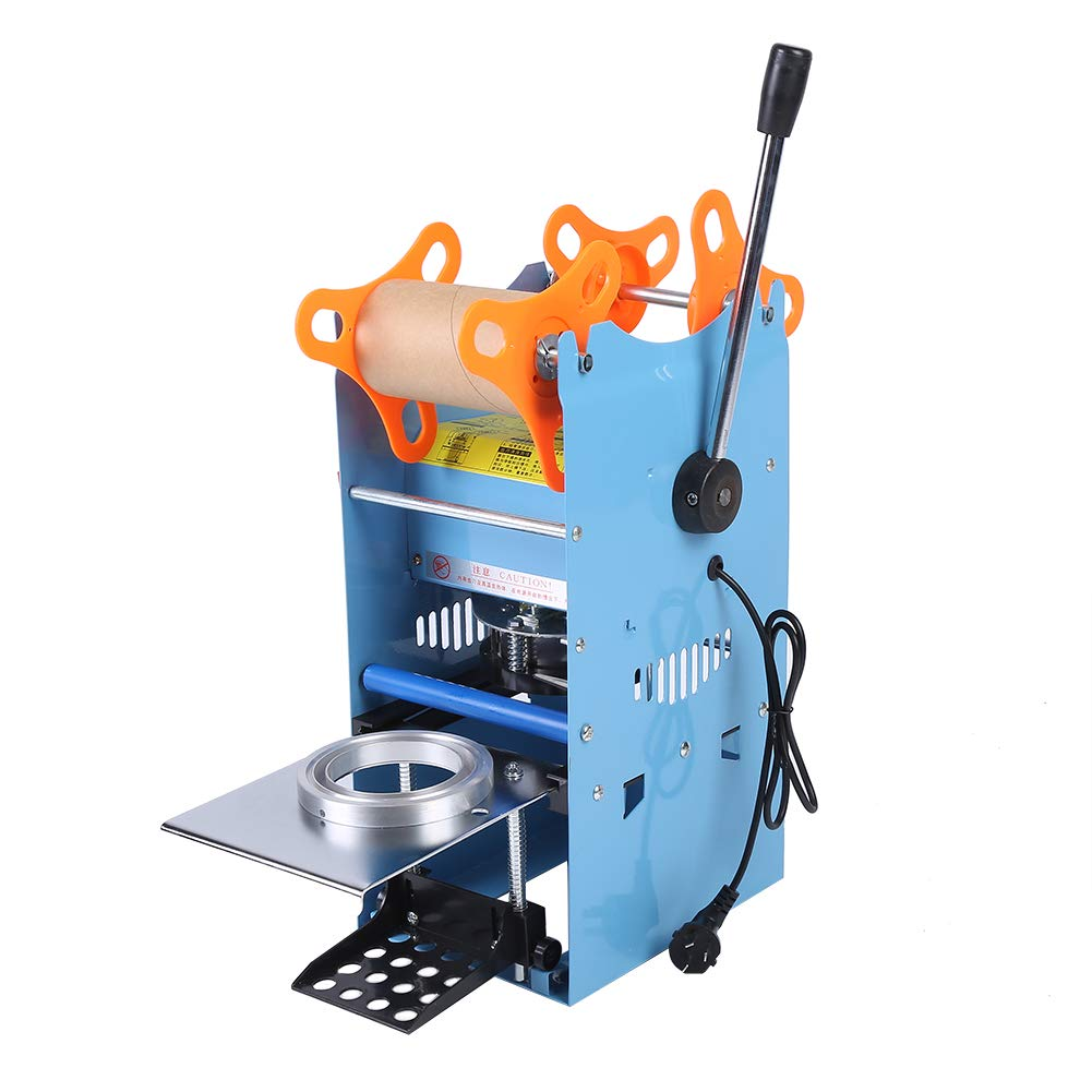 Commercial 270W Electric Manual Cup Sealing Machine for Bubble Tea Coffee Smoothies Cup Sealer 400-500 Cups/hr CN Plug 220V