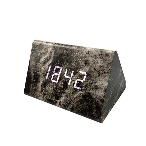 hcfkj Cool, Moderna Digital LED 3D Mesa Escritorio Noche Reloj de Pared Alarma Reloj Digital Clock Display, Sbk, as Showed: Amazon.es: Relojes
