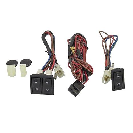 amazon com universal power window switch kit flat design with rh amazon com Power Window Rocker Switch 1984 monte carlo power window switch harness