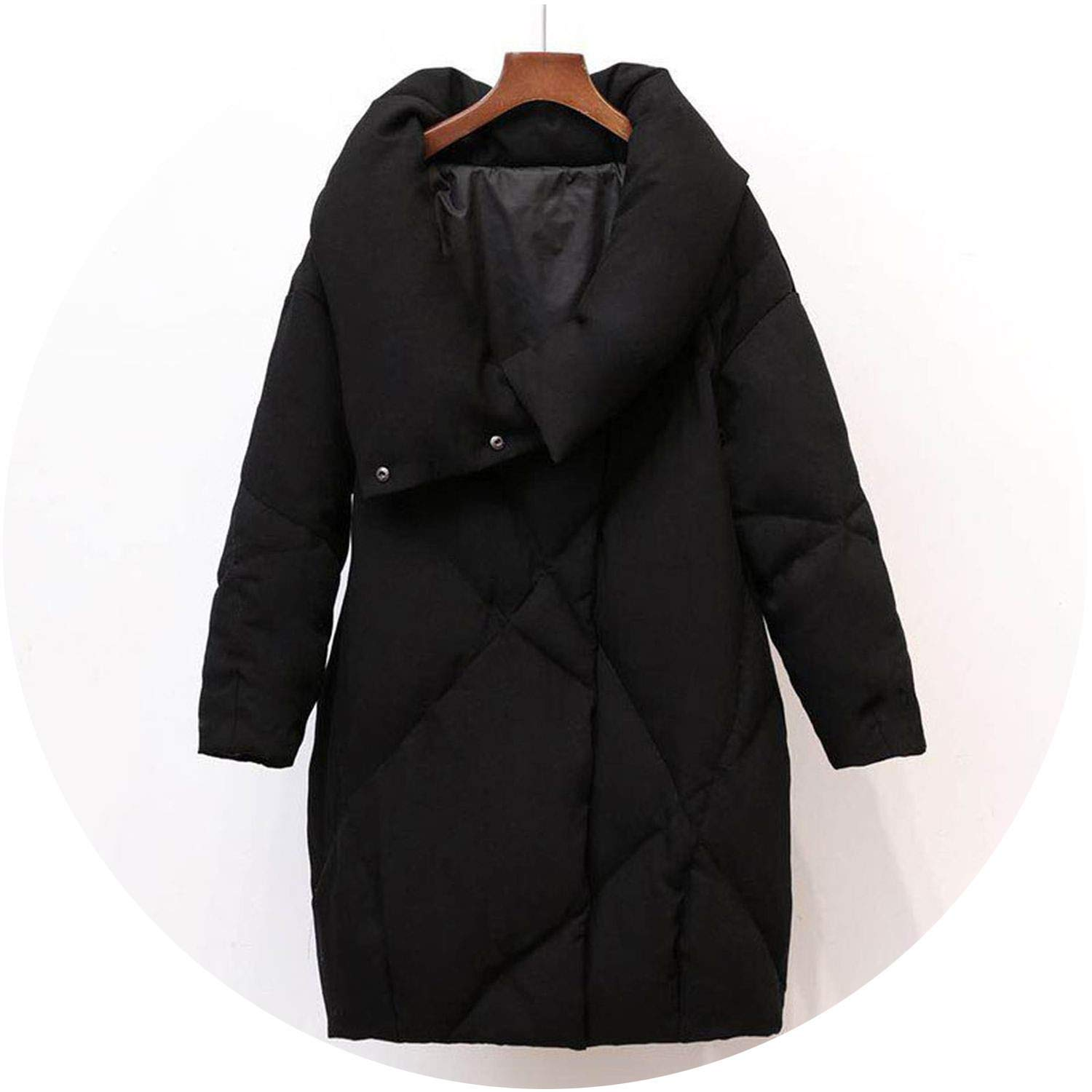 Black Talk about heaven Duck Down Coat Women Winter Clothing 2018 Female Jacket Knee Length Vintage Down Jacket