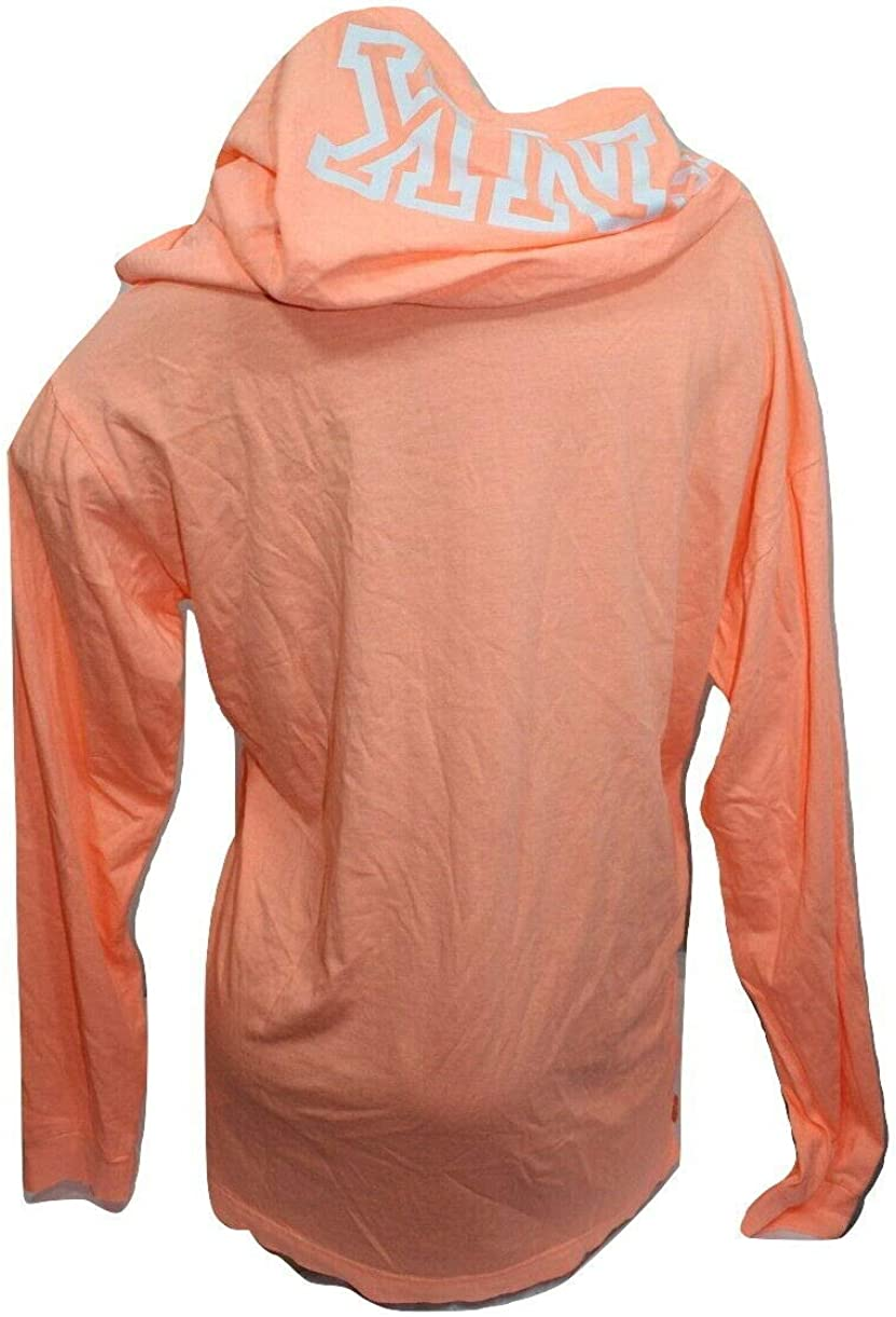 Long Sleeve Oversize XSmall Victorias Secret Pink NEW Campus Pocket Hoodie Color Orange