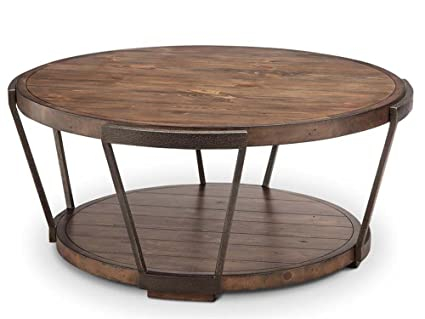 Round Coffee Table On Casters 1