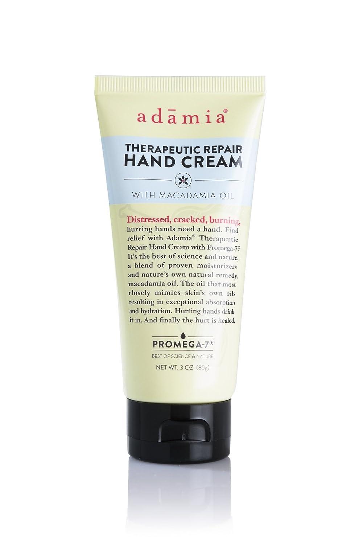 Adamia Therapeutic Repair Hand Cream with Macadamia Nut Oil and Promega-7, 3 Ounces - Fragrance Free, Paraben Free, Non GMO