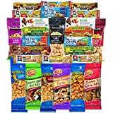 Healthy Mixed Bars & Nuts Snacks Gift Pack Raw & Delicious Nuts & Bars Party Mix, Crunchy & Nutritional Variety Nuts, Almonds, Cashews, Peanuts Variety Pack Bulk Care Package 26 Count