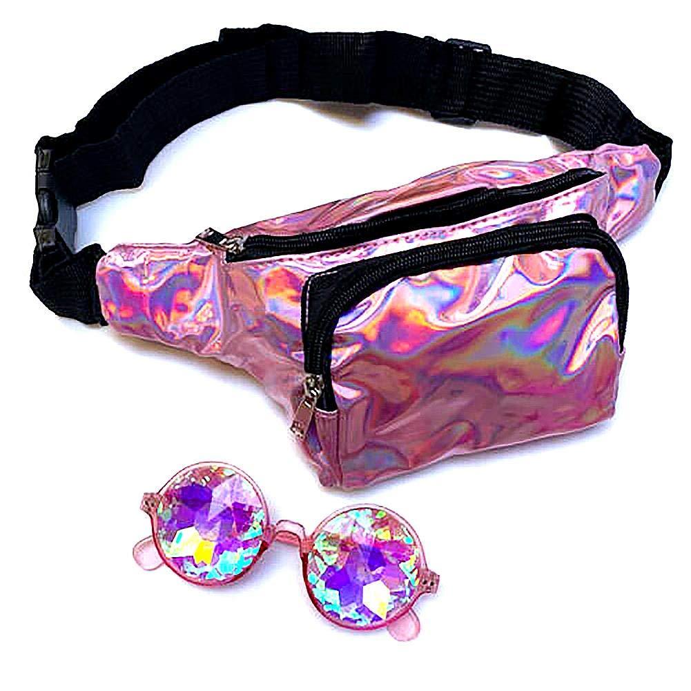 bolsa de 2 piezas Anteojos de caleidoscopio redondos