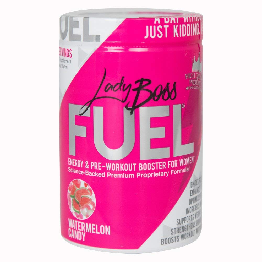 Premium Pre Workout Energy Supplement for Women - LadyBoss FUEL - Top Rated & Powered By Science - Effective, Powerful - Watermelon Candy Flavor - Focus, Strength & Endurance - 30 Servings by LadyBoss