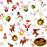 Happy Christmas Pattern Hydrographics Film Used for Car/Furniture Household/Helmet/Gun/Electronic Accessories... sale 2017
