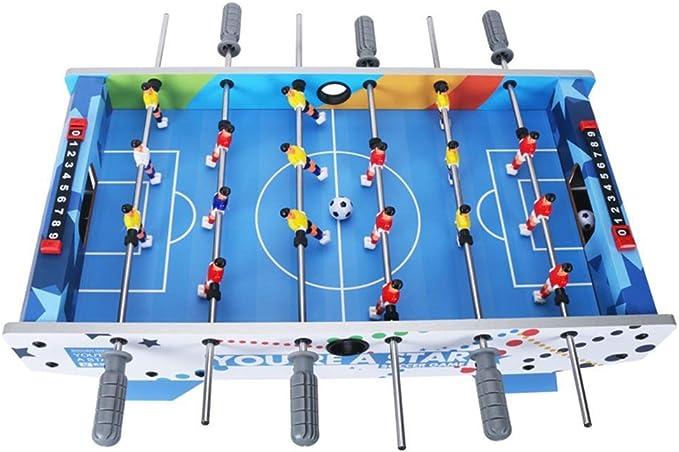 YQSHYP Mini Futbolín, 6 Mango ergonómico Mesa de Juego de fútbol ...