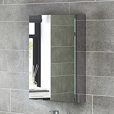 600 X 400 Stainless Steel Bathroom Mirror Cabinet Modern Single Door Storage Unit Mc120 Ibathuk Amazon Co Uk Diy Tools
