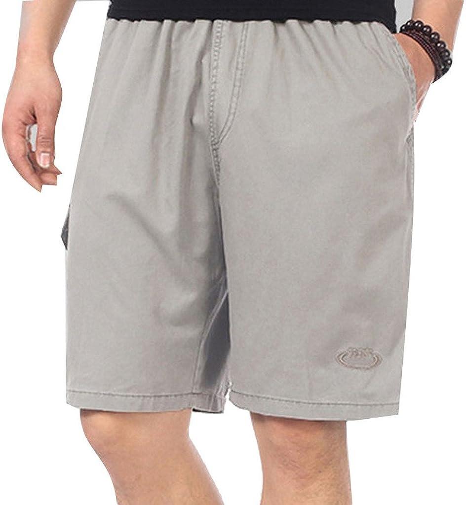 2XL-4XL YangguTown YGT Mens Cotton Full Elastic Cargo Shorts