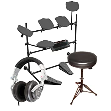 Amazon.com: Pyle Electronic Drum Set, taburete y auriculares ...