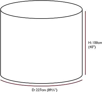 Woodside Housse ronde imperm/éable pour meubles dext/érieur Large