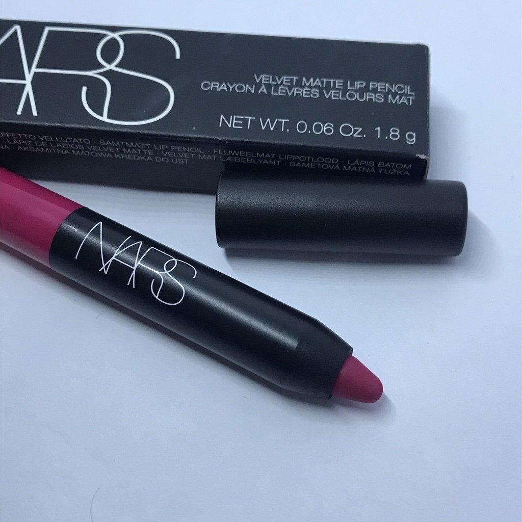 NARS Velvet Matte Lip Pencil LET'S GO CRAZY (vivid pink) Travel Size 0.06 oz