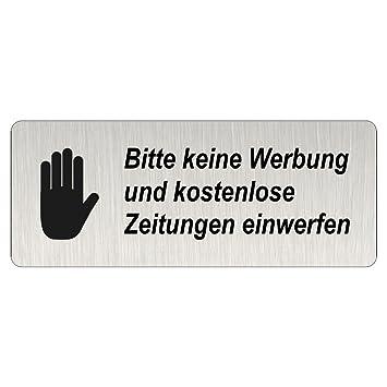 Briefkastenschild Bitte Keine Werbung Und Kostenlosen
