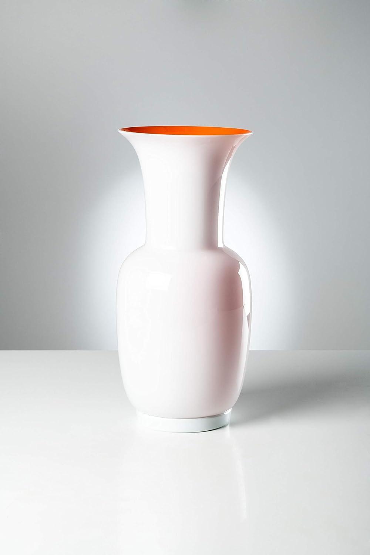 Venini Vaso Opalino 706.38 Lattimo/Arancio