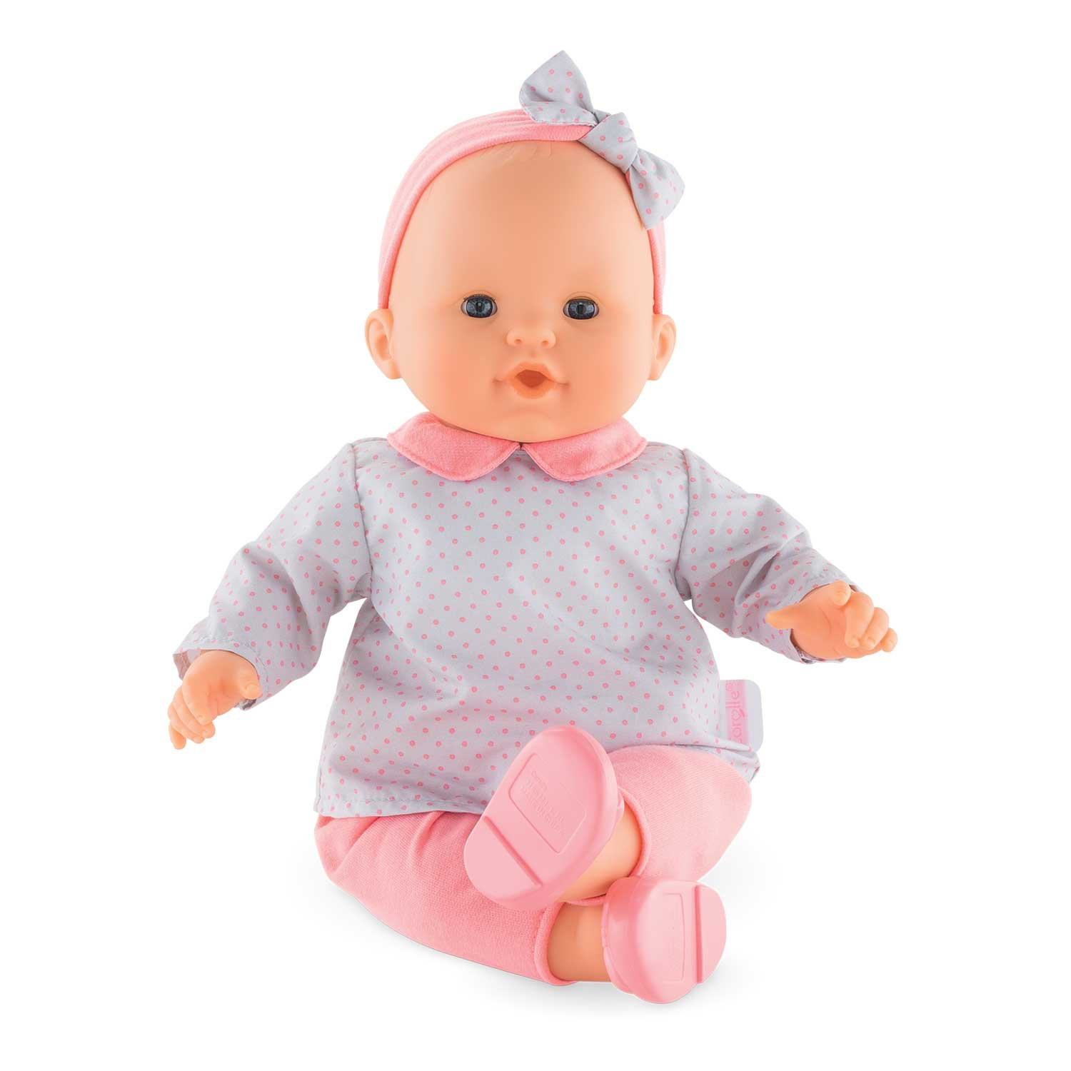 Corolle FPK14 Grands Poupons Babypuppe, grau, rosa, pink, 36 cm