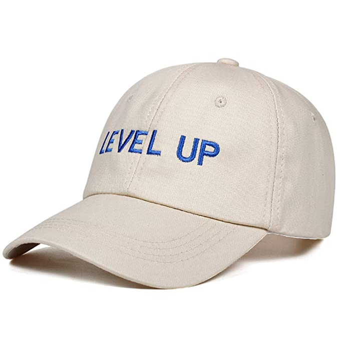 2019 New Level UP Baseball Cap Ciara Fashion Style Rap Hip Hop Dad Cap Cotton for Women Men dad hat Gorra Cap Beige at Amazon Mens Clothing store: