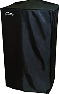 """40"""" Heavy-Duty, Masterbuilt and Reinforced Polyester Smoker Cover, Black"""