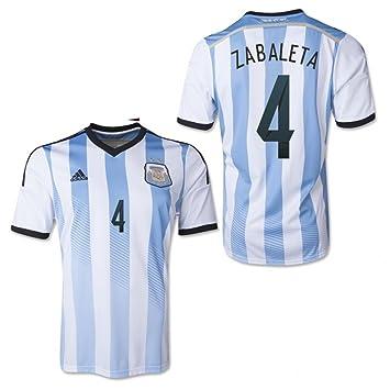 Adidas AFA Argentina Home Jersey - Camiseta de Manga Corta, Zabaleta 4: Amazon.es: Deportes y aire libre