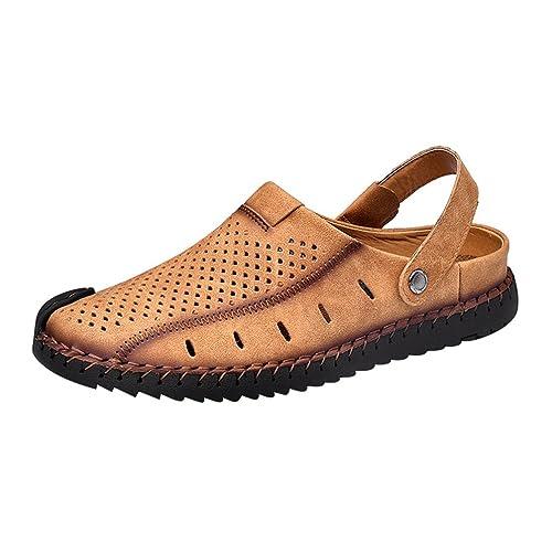 LINNUO Sandalias Transpirable Hombre Zuecos de Playa Piscina Zapatillas  Slippers Chanclas de Verano (Amarillo a800fed23a4