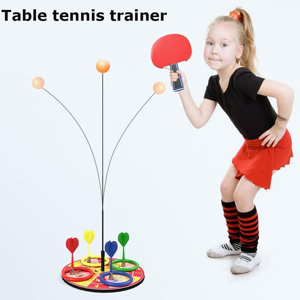 Kid Elastic Table Tennis Trainer Equipment Rebound Robot PingPong Trainer Indoor