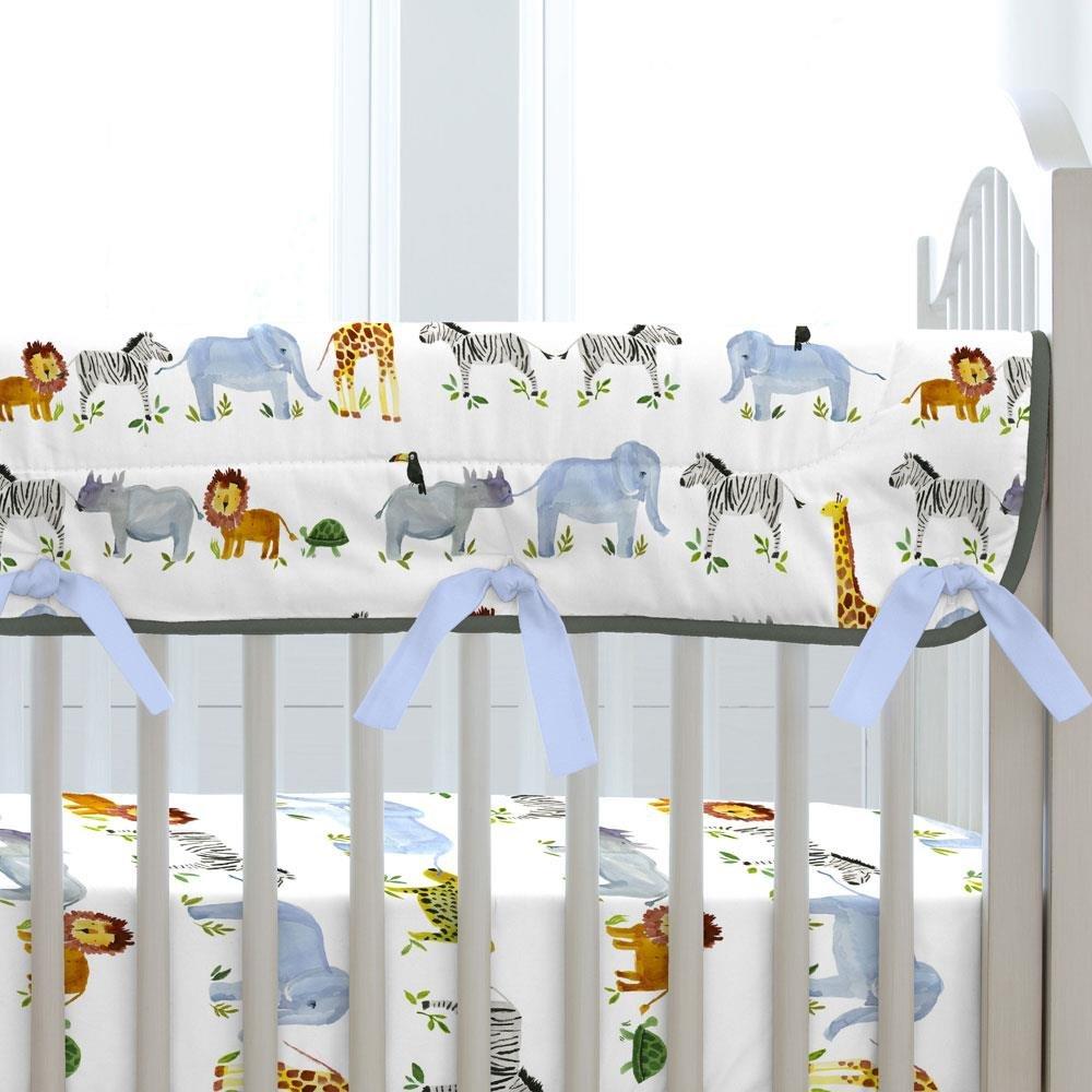 Carousel Designs Painted Zoo Crib Rail Cover