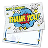 Explosive Superhero Thank You Cards - Includes Envelopes (Pack of 10) - by Ruby Ashley